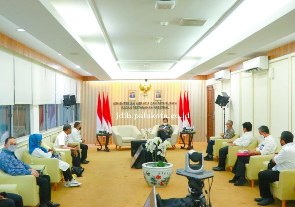 Kunjungan Bersama Wali Kota ke Kantor Kementerian Agraria/Badan Pertanahan Nasional (ATR/BPN) Membah