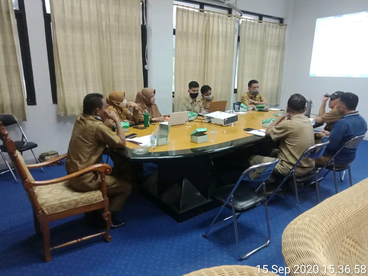 Rapat Penyusunan Rencana Aksi Percepatan Rehab  Rekon Pasca Bencana di Kota Palu dan Penyelesaian Permasalahan Aset Pemda Kota Palu pada tanggal 15 September yg dipimpin langsung Bapak Sekretaris Daerah Kota Palu di Ruang Asisten II Sekda Kota Palu