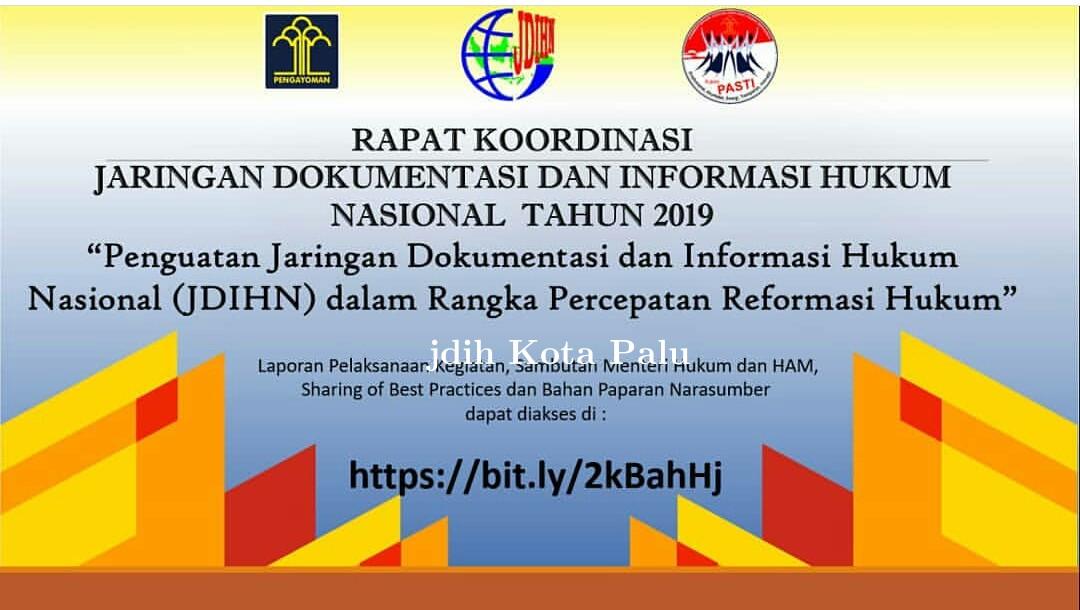 Rapat koordinasi JDIH Nasional
